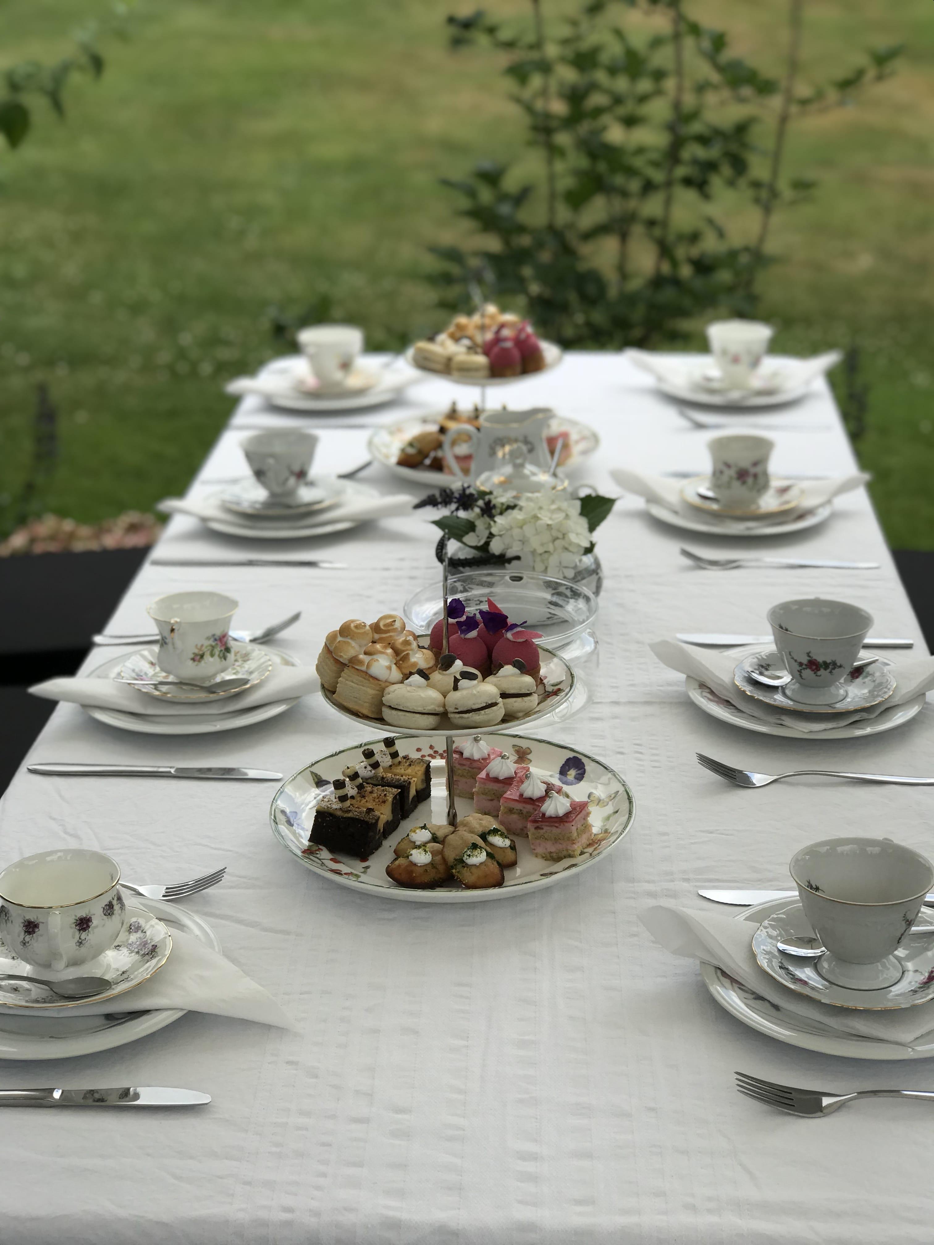 High tea het landschap